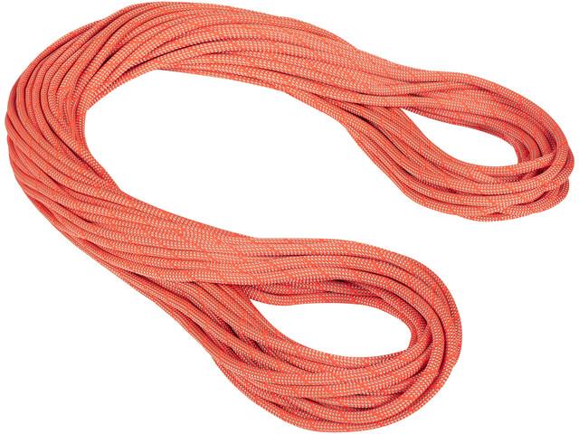 Mammut 9.8 Crag Classic Cuerda 50m, naranja/blanco